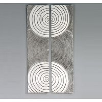 Sphere Wall Art In Antique Silver And Wood Finish