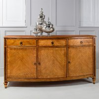 Spire Large Wooden Sideboard In Walnut With 3 Doors 3 Drawers