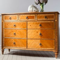 Spire Mindy Ash Chest Of Drawers In Walnut With 9 Drawers
