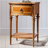 Spire Wooden Bedside Cabinet In Walnut With 1 Drawer