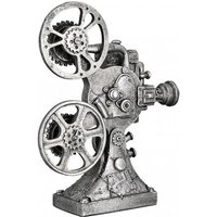 Product photograph showing Steampunk Camera Poly Sculpture In Antique Silver