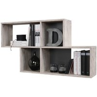 image-Stella Wall Mounted Display Shelf In Sand Oak And Anthracite