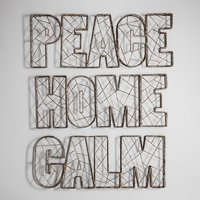 Product photograph showing Stellan Peace Wire Wall Art In Metal