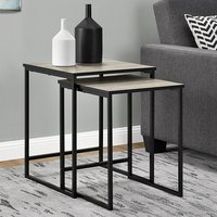 Product photograph showing Stewart Wooden Set Of 2 Nesting Tables In Sonoma Oak