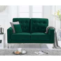 Product photograph showing Swiger Velvet Upholstered 2 Seater Sofa In Green