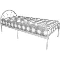 Sydney Metal Single Bed In Silver