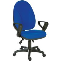Tailings Operator Office Chair In Blue With Black Base And Wheel