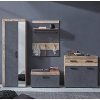 Product photograph showing Tailor Pale Wood And Matera Hallway Furniture Set Without Mirror