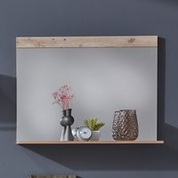 Product photograph showing Tailor Wall Mirror With Pale Wood And Matera Frame