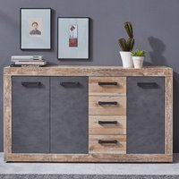 Product photograph showing Tailor Wooden Large Sideboard In Pale Wood And Matera