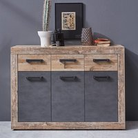 Product photograph showing Tailor Wooden Medium Sideboard In Pale Wood And Matera