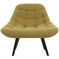 image-Talin Faux Linen Upholstered Bedroom Chair In Green