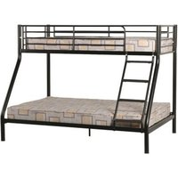Product photograph showing Tandi Metal Triple Sleeper Bunk Bed In Black