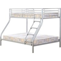 Product photograph showing Tandi Metal Triple Sleeper Bunk Bed In Silver