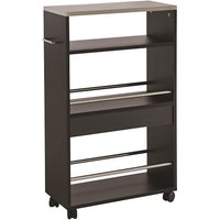 image-Tango Storage Trolley In Black With Shelves And 4 Castors