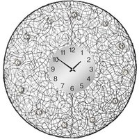 Product photograph showing Tangrow Diamante Details Wall Clock In Black