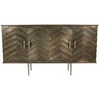 Rastaban Metallic Design Sideboard With Tapered Silver Legs