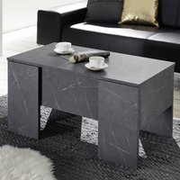 Product photograph showing Taze Lift-up Storage Coffee Table In Black Gloss Marble Effect