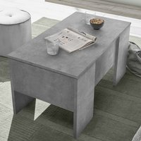 Product photograph showing Taze Lift-up Storage Coffee Table In Cement Effect
