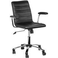 Product photograph showing Tenova Black Faux Leather Home And Office Chair With Arms