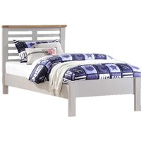 Tertia Stone Painted Wooden Single Bed