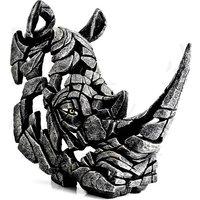 Product photograph showing Thabit Rhinoceros Bust Edge Sculpture Ornament