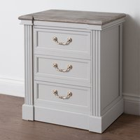 Liberty Wooden Bedside Cabinet In White With 3 Drawers