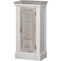 Product photograph showing Liberty Wooden Louvered Doors Storage Cabinet In White