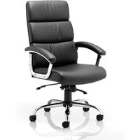 Product photograph showing Tillie Bonded Leather Executive Chair In Black With Chrome Base