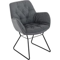 Product photograph showing Titania Two Tone Faux Leather Dining Chair In Grey