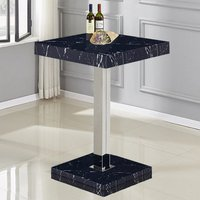 Product photograph showing Topaz High Gloss Bar Table In Black Milano Effect