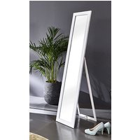 Product photograph showing Topeka Floor Standing Cheval Mirror In White Frame