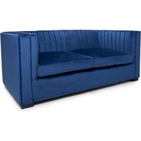 Product photograph showing Torin 2 Seater Sofa In Blue Brushed Velvet