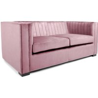 Product photograph showing Torin 2 Seater Sofa In Pink Brushed Velvet