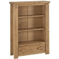 Product photograph showing Tortilla Wooden 1 Drawer Bookcase In Waxed Pine