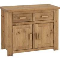Product photograph showing Tortilla Wooden 2 Doors 2 Drawers Sideboard In Waxed Pine