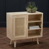 Product photograph showing Toulouse Wooden Display Cabinet In Light Washed Oak