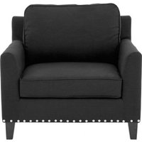 Product photograph showing Trento Fabric Armchair In Black