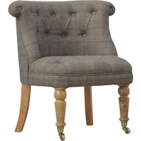 Product photograph showing Trenton Fabric Upholstered Accent Chair In Petite Multi Tweed
