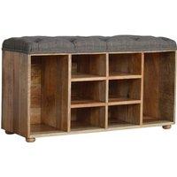 Trenton Shoe Storage Bench In Multi Tweed Oak Ish With 6 Slots