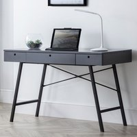 Product photograph showing Trianon Wooden Laptop Desk In Grey