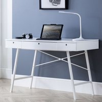 Product photograph showing Trianon Wooden Laptop Desk In White