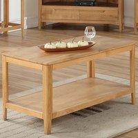Trimble Coffee Table In Oak With Shelf