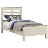 Trimble Wooden Single Bed In Spanish White Painted