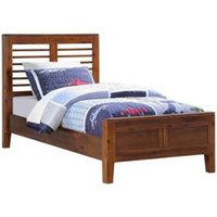 Trimble Wooden Single Bed In Rich Acacia Finish