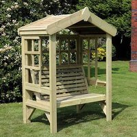 Product photograph showing Tromin Wooden Cottage 2 Seater Arbour