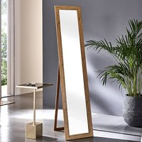 Product photograph showing Truckee Floor Standing Cheval Mirror In Oak Frame