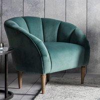 image-Tulip Bedroom Chair In Mint Velvet