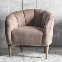 image-Tulip Bedroom Chair In Wheat Velvet