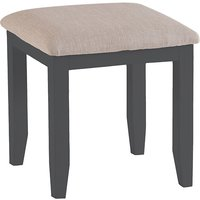 Product photograph showing Tyler Wooden Dressing Stool In Charcoal